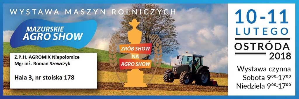 Mazurskie Agro Show 2018 - zaproszenie